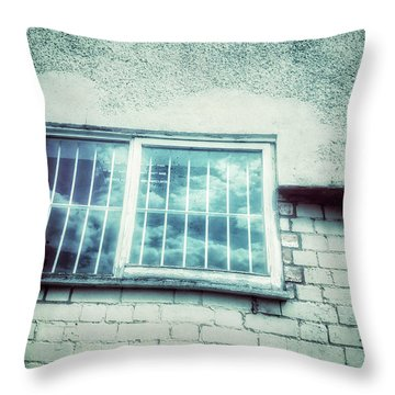 Old Window Bars Throw Pillow by Tom Gowanlock