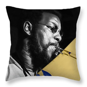 Ornette Coleman Collection Throw Pillow by Marvin Blaine