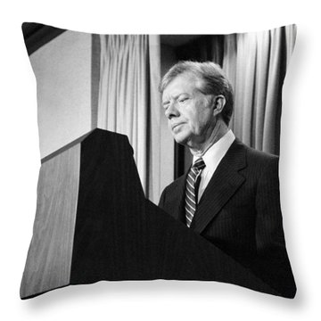 President Jimmy Carter Throw Pillow by War Is Hell Store
