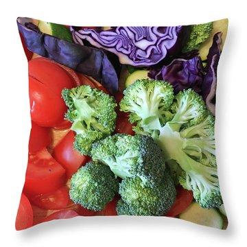 Raw Ingredients Throw Pillow by Tom Gowanlock