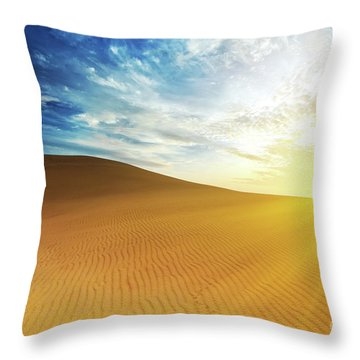Sandy Desert Throw Pillow by MotHaiBaPhoto Prints