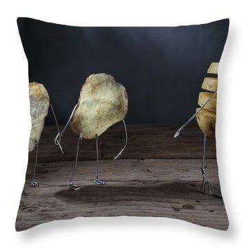 Simple Things - Potatoes Throw Pillow by Nailia Schwarz
