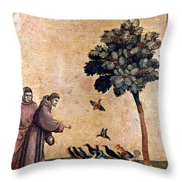 St. Francis Of Assisi Throw Pillow by Granger