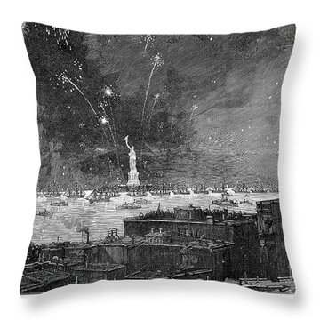 Statue Of Liberty, 1886 Throw Pillow by Granger