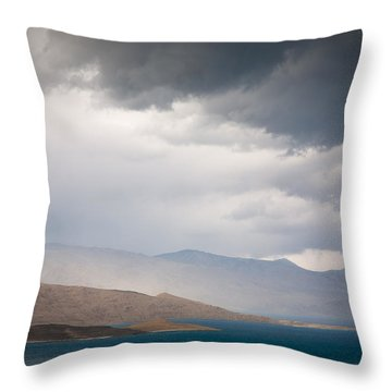 Storm On Karakul Lake Throw Pillow by Konstantin Dikovsky