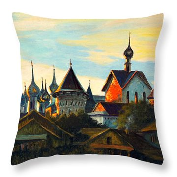 Sunset In Rostov Throw Pillow by Henryk Gorecki