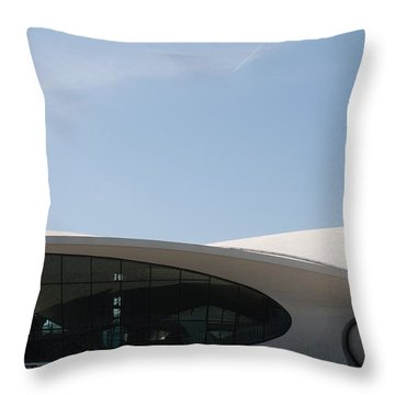 T W A Terminal Throw Pillow by Rob Hans