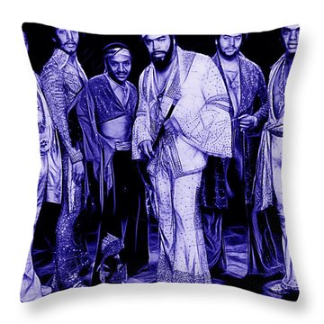 The Isley Brothers Collection Throw Pillow by Marvin Blaine