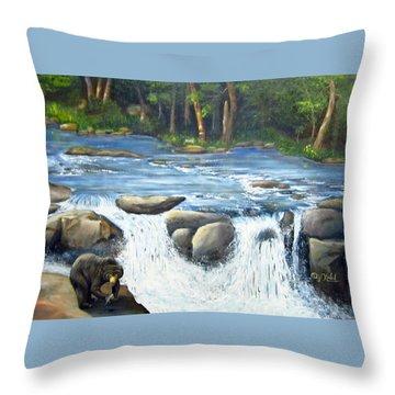 Twin Falls Diner Throw Pillow by Dottie Kinn