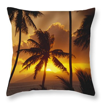 View Of Tahiti Throw Pillow by Joe Carini - Printscapes