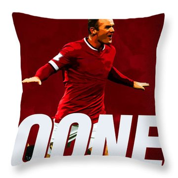 Wayne Rooney Throw Pillow by Semih Yurdabak