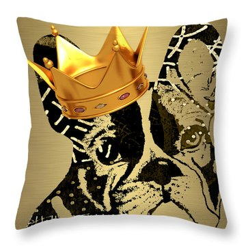 French Bulldog Collection Throw Pillow by Marvin Blaine