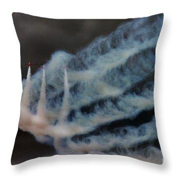 Red Arrows Throw Pillow by Angel  Tarantella