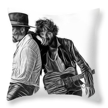 Bruce Springsteen Clarence Clemons Collection Throw Pillow by Marvin Blaine