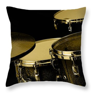 Drums Collection Throw Pillow by Marvin Blaine