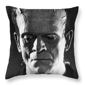 Frankenstein, 1931 Throw Pillow by Granger