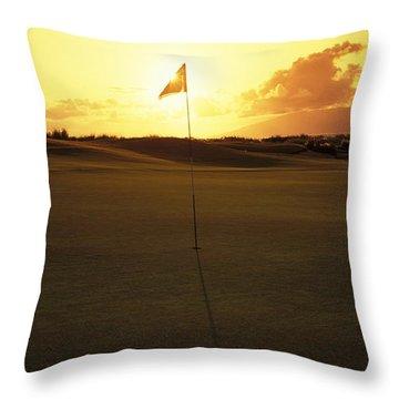 Kapalua Golf Club Throw Pillow by Carl Shaneff - Printscapes
