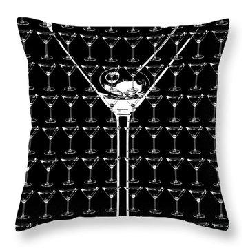 So Many Martinis So Little Time Throw Pillow by Jon Neidert