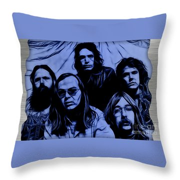 Steely Dan Collection Throw Pillow by Marvin Blaine