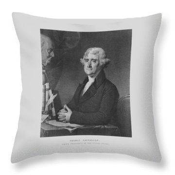 Thomas Jefferson Throw Pillow by War Is Hell Store