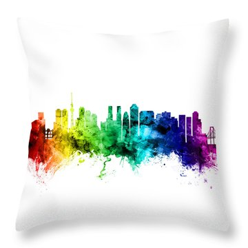 Tokyo Japan Skyline Throw Pillow by Michael Tompsett