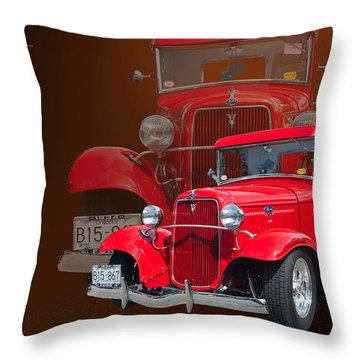 34 Ford Pick Up Throw Pillow by Jim  Hatch