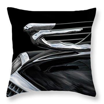 37 Cadillac Hood Angel Throw Pillow by Douglas Pittman