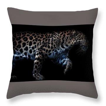 Amur Leopard Throw Pillow by Martin Newman