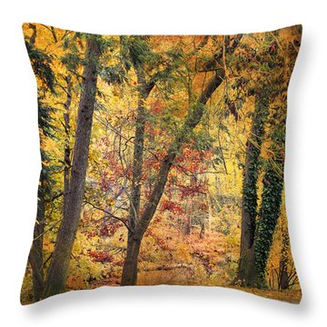 Autumn Canvas Throw Pillow by Jessica Jenney