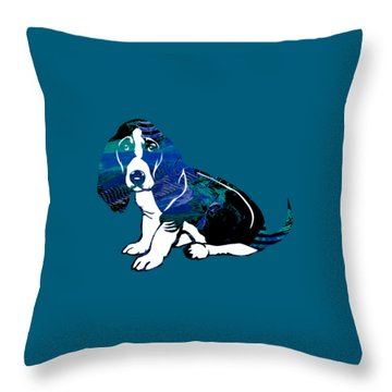 Beagle Collection Throw Pillow by Marvin Blaine