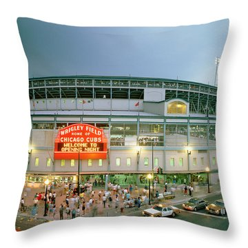 High Angle View Of Tourists Throw Pillow by Panoramic Images