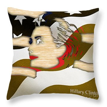 Hillary Clinton 2016 Collection Throw Pillow by Marvin Blaine