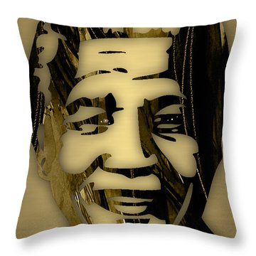Nelson Mandela Collection Throw Pillow by Marvin Blaine