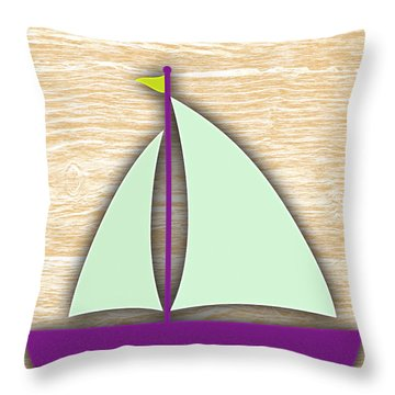 Sailing Collection Throw Pillow by Marvin Blaine