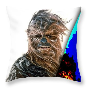 Star Wars Chewbacca Collection Throw Pillow by Marvin Blaine