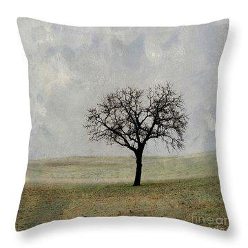 Textured Tree Throw Pillow by Bernard Jaubert