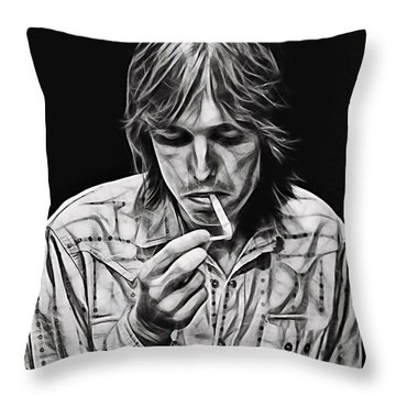 Tom Petty Collection Throw Pillow by Marvin Blaine