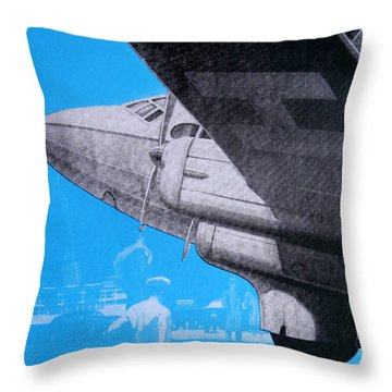 Travel Air Land Sea Throw Pillow by David Studwell