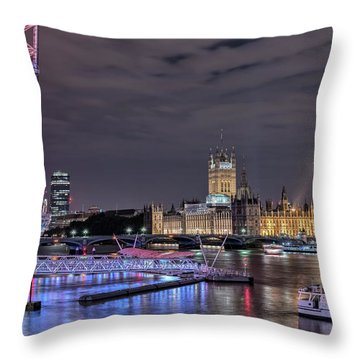Westminster - London Throw Pillow by Joana Kruse