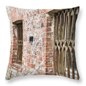Window Bars Throw Pillow by Tom Gowanlock