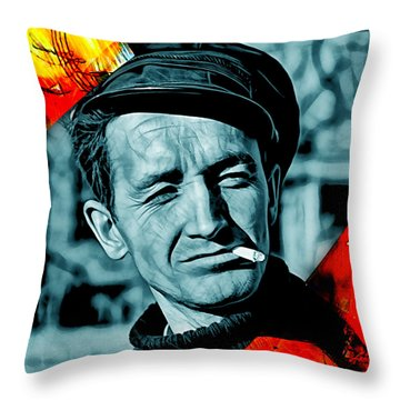 Woody Guthrie Collection Throw Pillow by Marvin Blaine