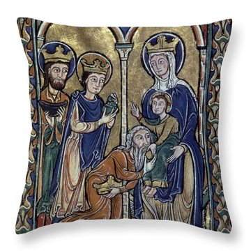 Adoration Of Magi Throw Pillow by Granger