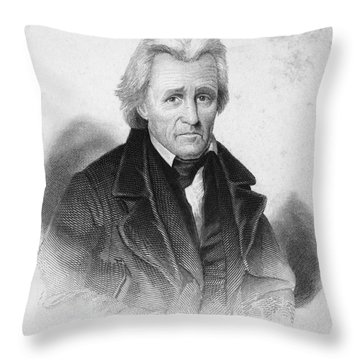 Andrew Jackson (1767-1845) Throw Pillow by Granger