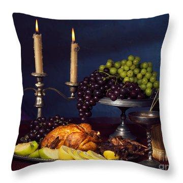 Artistic Food Still Life Throw Pillow by Oleksiy Maksymenko