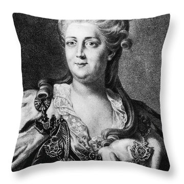 Catherine II (1729-1796) Throw Pillow by Granger