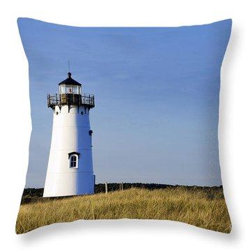 Edgartown Lighthouse Throw Pillow by John Greim