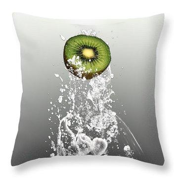 Kiwi Splash Throw Pillow by Marvin Blaine