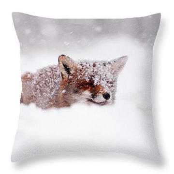 50 Shades Of White And A Touch Of Red Throw Pillow by Roeselien Raimond