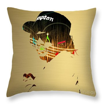 Eazy E Straight Outta Compton Throw Pillow by Marvin Blaine