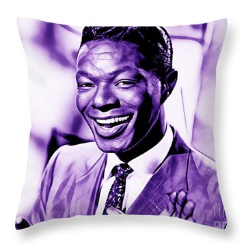 Nat King Cole Collection Throw Pillow by Marvin Blaine